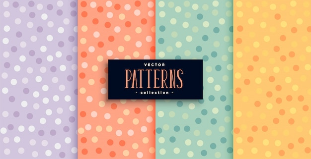 Beautiful circles patterns set in many colors Free Vector