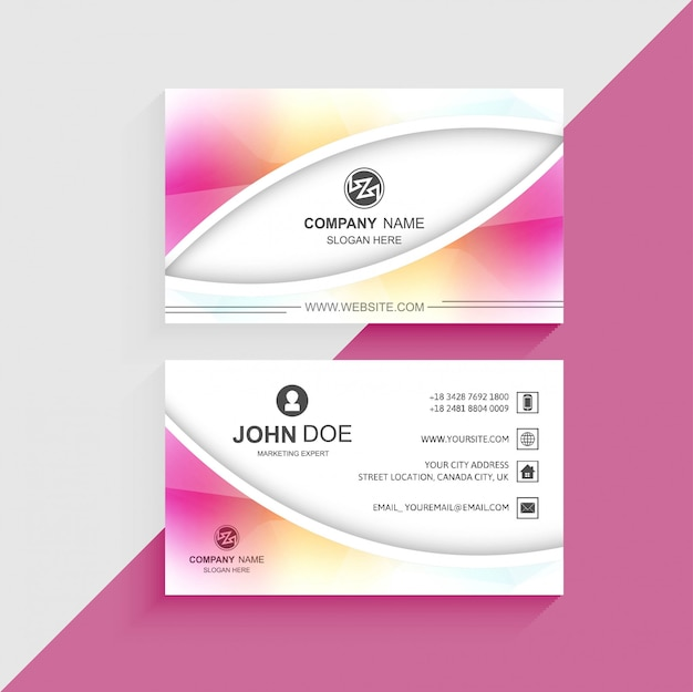 Beautiful colorful business card template design vector free download beautiful colorful business card template design free vector fbccfo Images