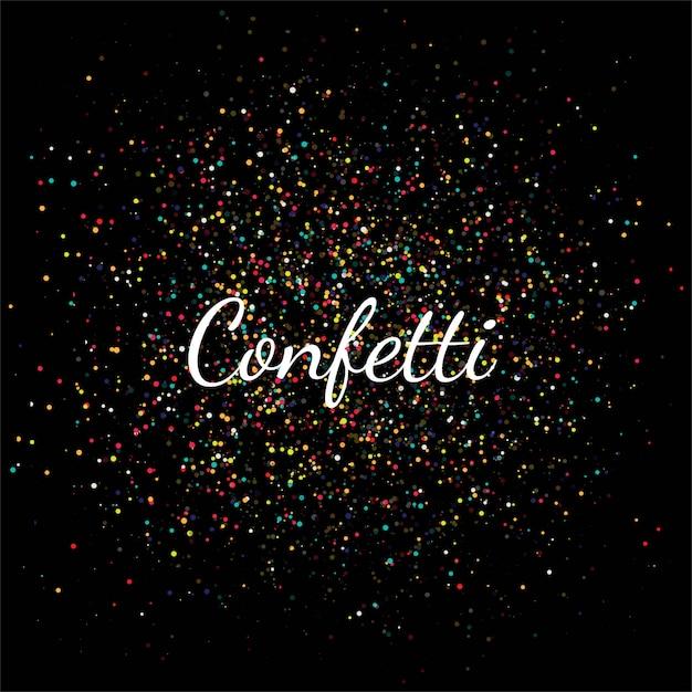 Beautiful colorful confetti celebration Free Vector