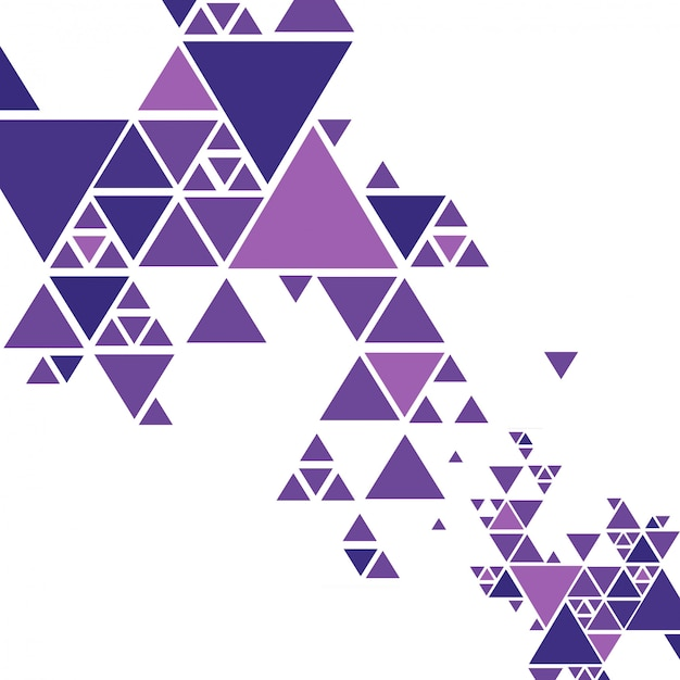 Beautiful colorful triangle background vector Free Vector