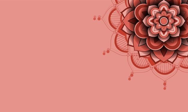 Красивый цвет фона мандалы Бесплатные векторы