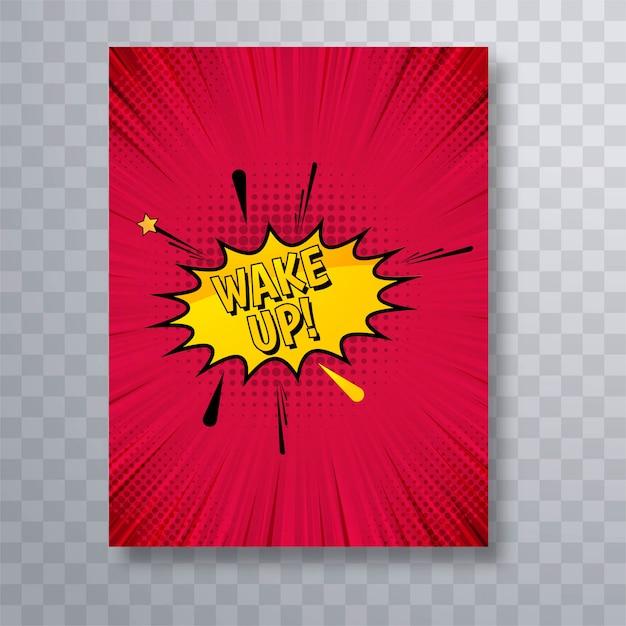 Beautiful comic book brochure template design vector Free Vector