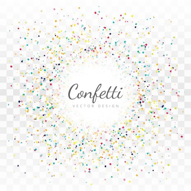 Beautiful confetti background vector Free Vector
