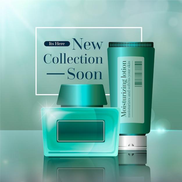 Beautiful cosmetic ad Free Vector