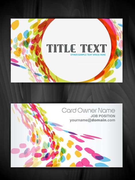 Beautiful creative business card design