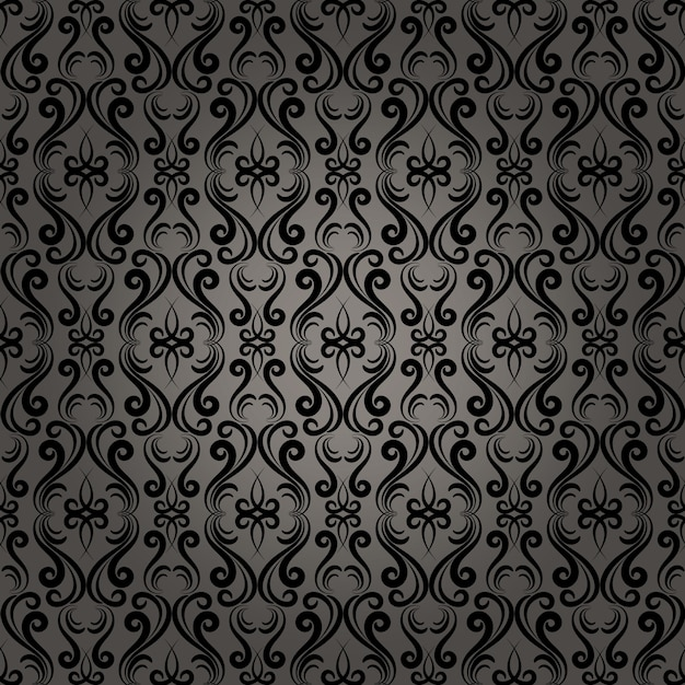 Beautiful damask baroque seamless pattern background for wallpaper in web pages Free Vector