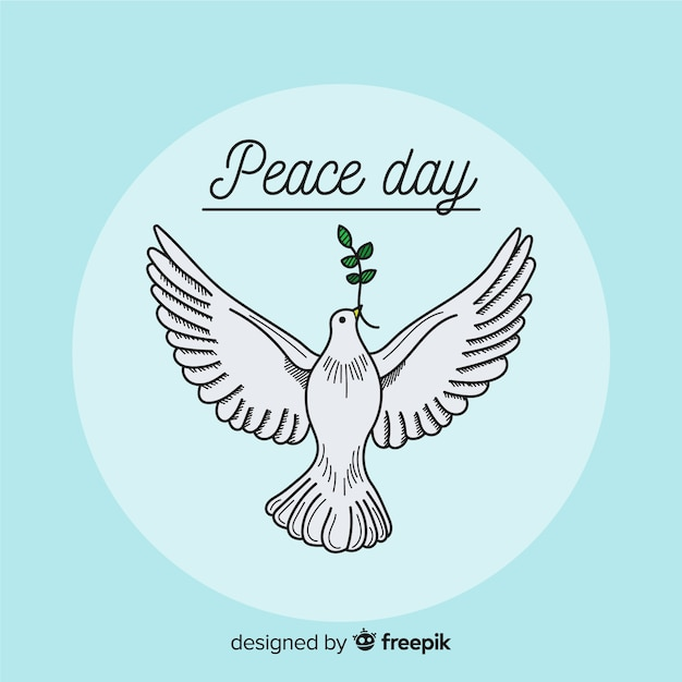 Beautiful Day Of Peace Background Free Vector