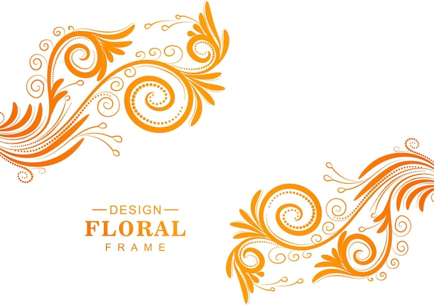 Beautiful decorative colorful floral background Free Vector