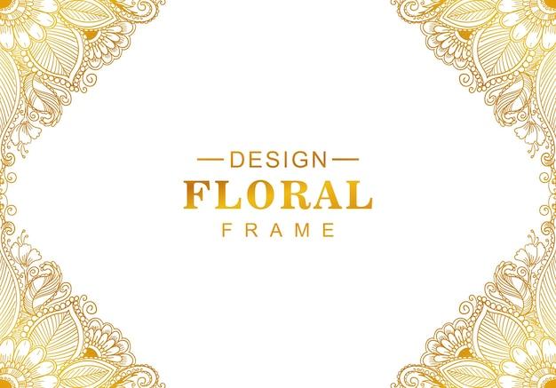 Bellissimo sfondo decorativo dorato Vettore gratuito