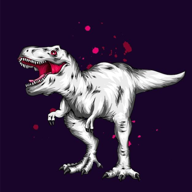 A beautiful dinosaur. Premium Vector