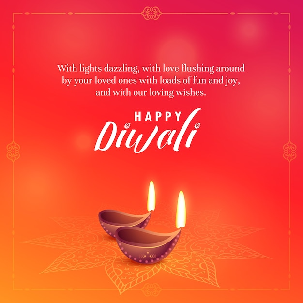 beautiful diwali wishes background vector design Free Vector