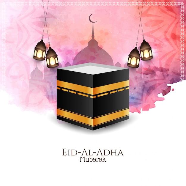 Красивый праздник ид аль-адха мубарак Бесплатные векторы