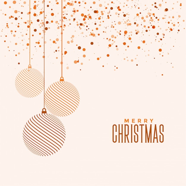 Beautiful elegant merry christmas festival greeting card Free Vector
