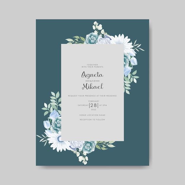 beautiful and elegant wedding invitation card  premium vector