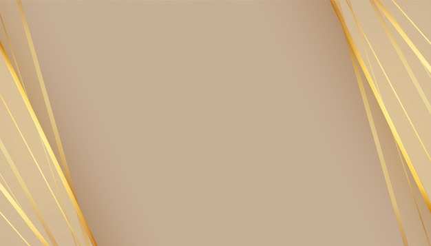Beautiful empty background with golden lines Free Vector