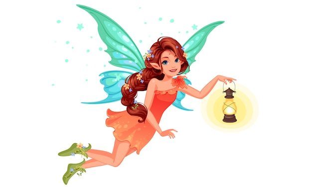 Beautiful fairy Premium Vector