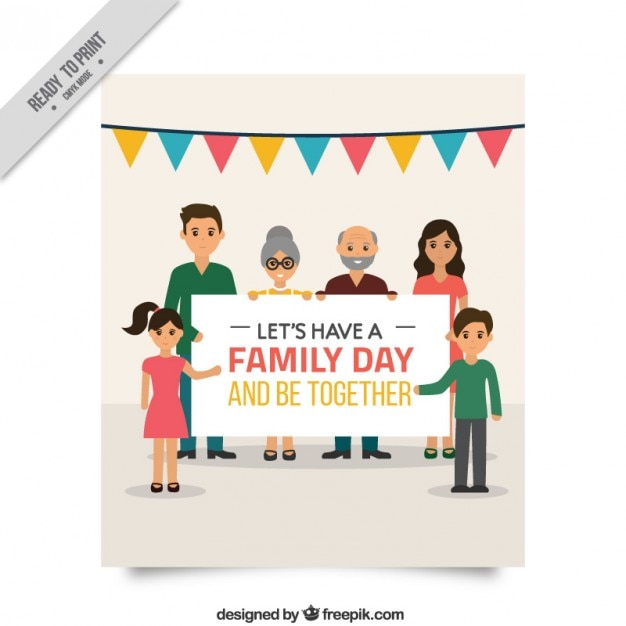 beautiful family day card vector  free download