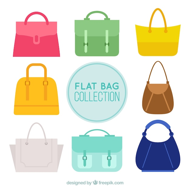 Beautiful fashion handbags Free Vector