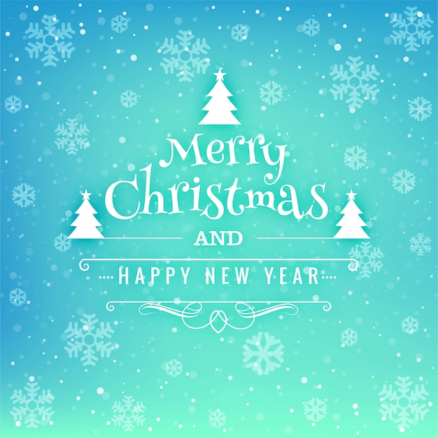 Beautiful festival merry christmas card background Vector | Free ...