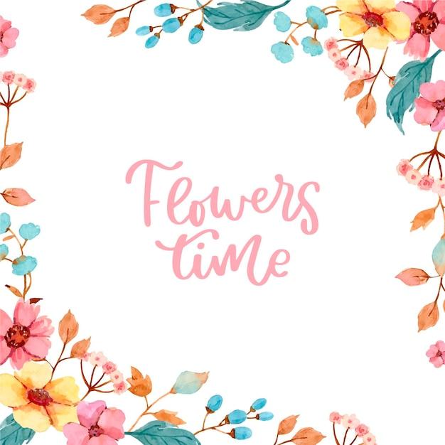 아름다운 꽃 배경 디자인 프리미엄 벡터