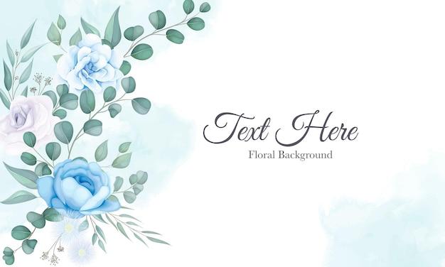 柔らかい花飾りと美しい花の背景 無料ベクター