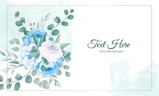 부드러운 꽃 장식으로 아름 다운 꽃 배경 무료 벡터