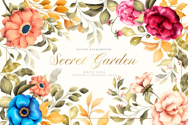 Beautiful floral background with vintage nature Free Vector