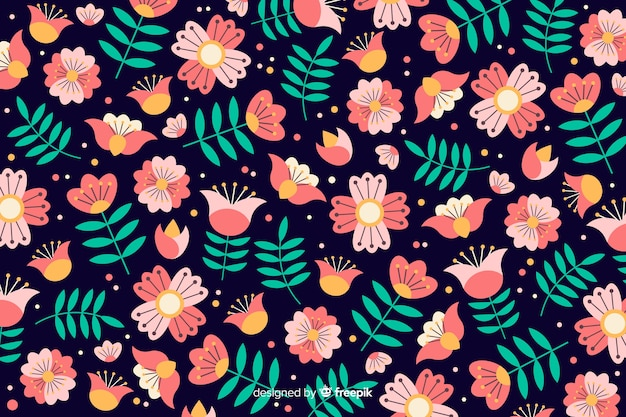 Beautiful floral background Free Vector