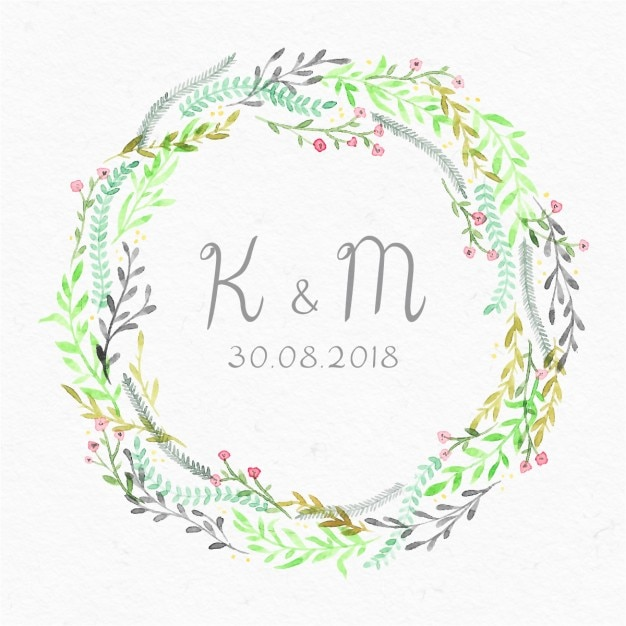 Beautiful Floral Frame For A Wedding Invitation Free Vector