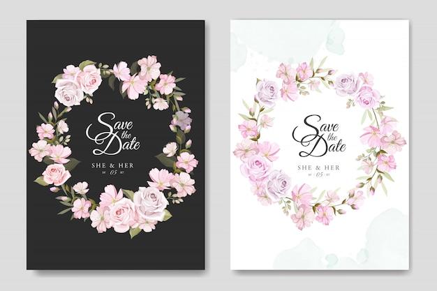 Beautiful floral frame for multi purpose background Premium Vector