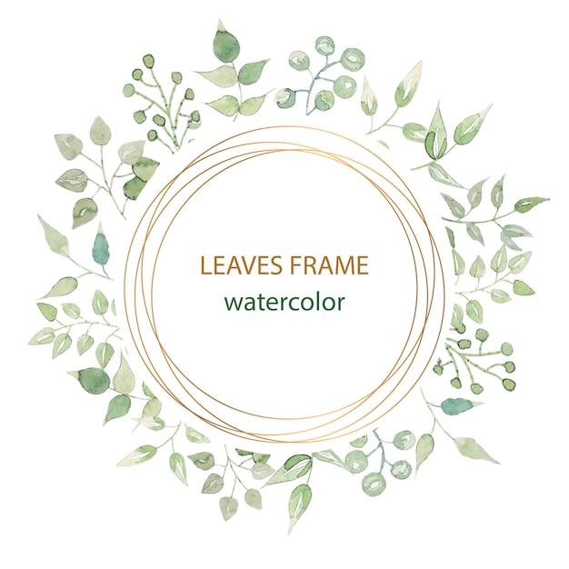 Beautiful floral frame vector Premium Vector