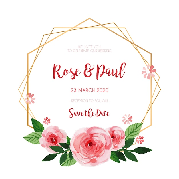free vector beautiful floral frame for wedding invitation beautiful floral frame for wedding