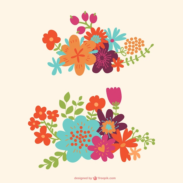 Beautiful Floral Ornaments Vector Free Download