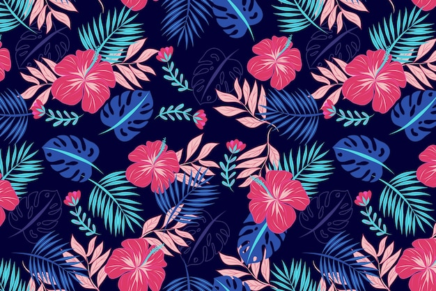 Beautiful floral pattern background Free Vector