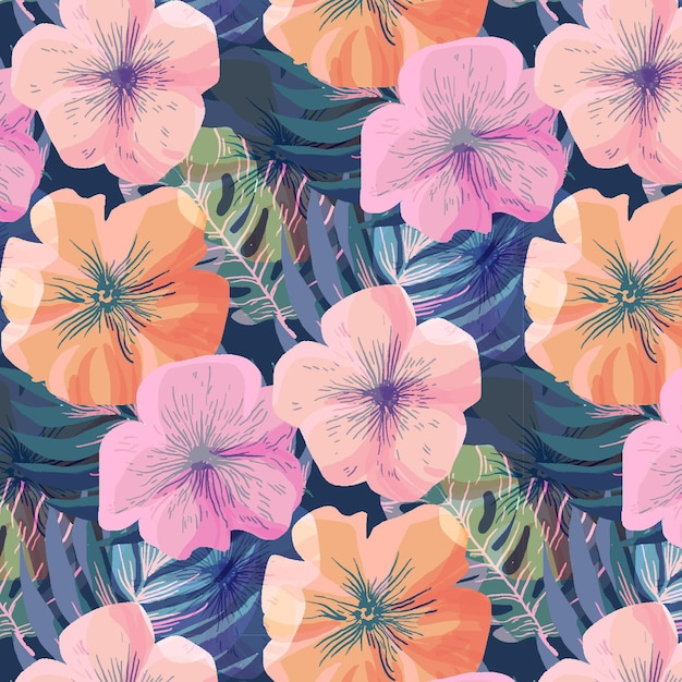 Beautiful floral pattern Free Vector