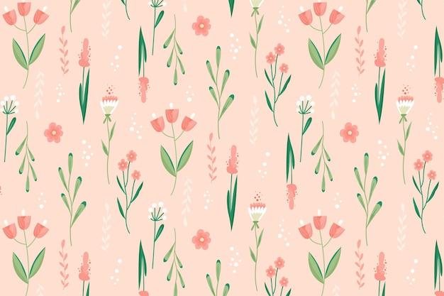 아름 다운 꽃 패턴 프리미엄 벡터