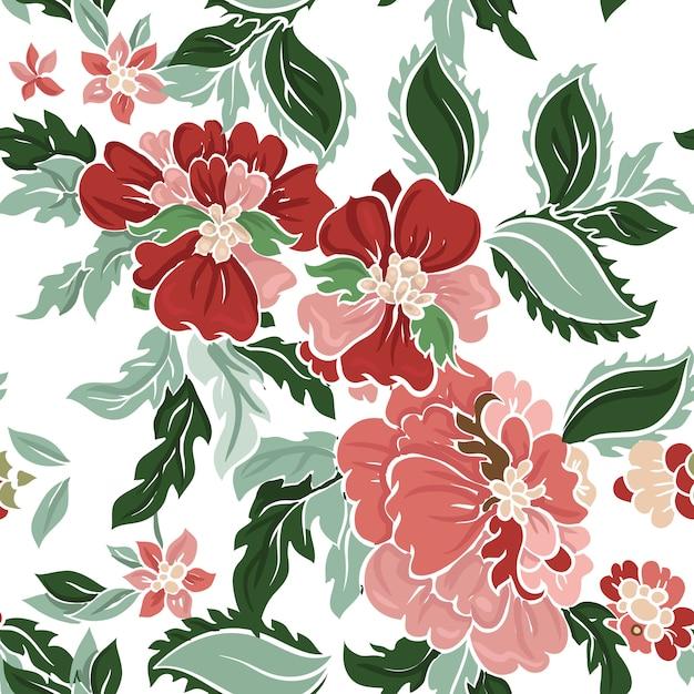 Beautiful floral  pattern . Premium Vector