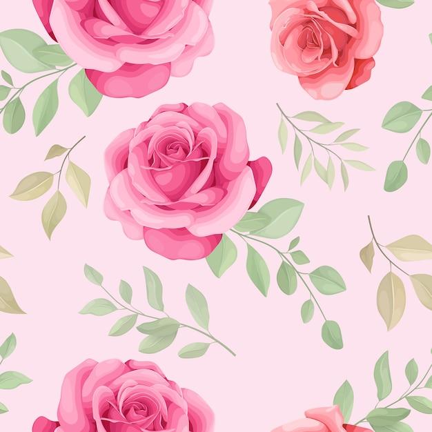 美しい花のシームレスなパターン Premiumベクター