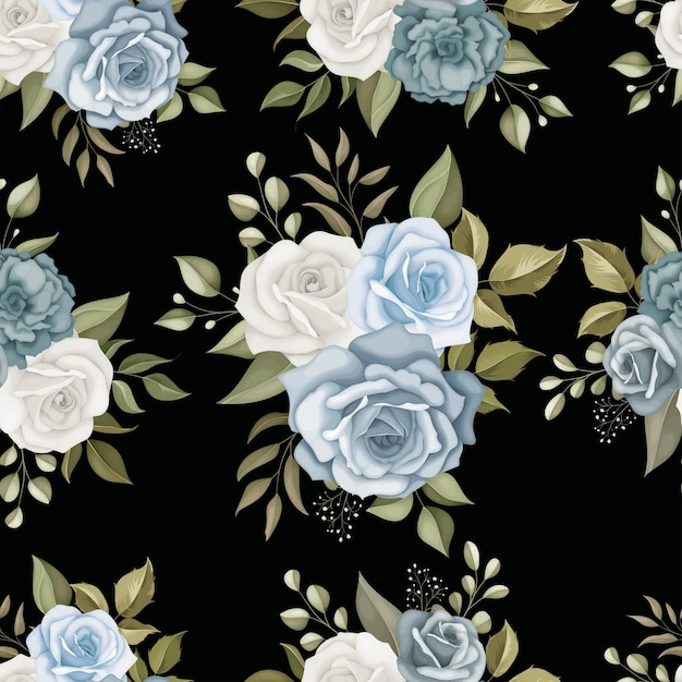 Beautiful floral seamless pattern Premium Vector