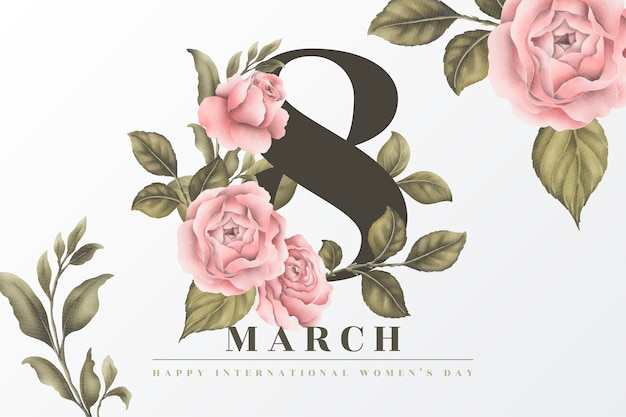 Beautiful floral women's day background Free Vector