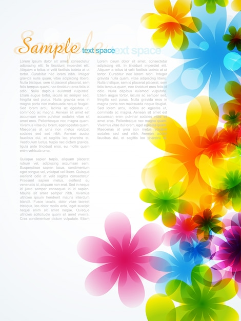 beautiful flower background Free Vector