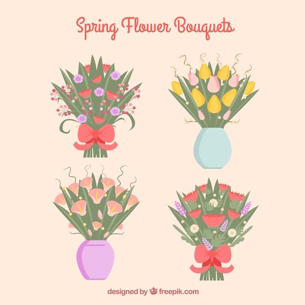 Beautiful flower bouquets Vector   Premium Download