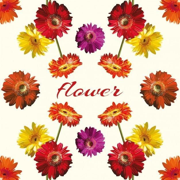 Beautiful flower light background Premium Vector