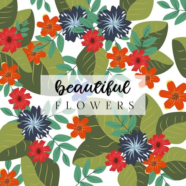 Beautiful flowers background Premium Vector