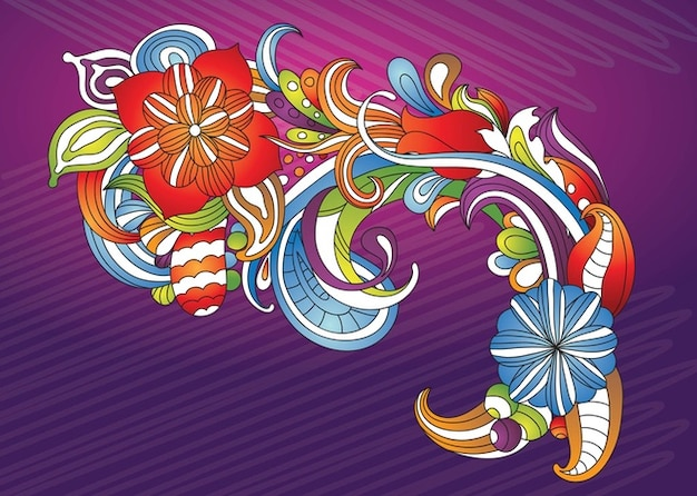 beautiful flowers vector art vector  free download, Beautiful flower