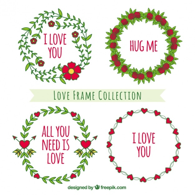 Beautiful frames for valentine\'s day Vector | Free Download