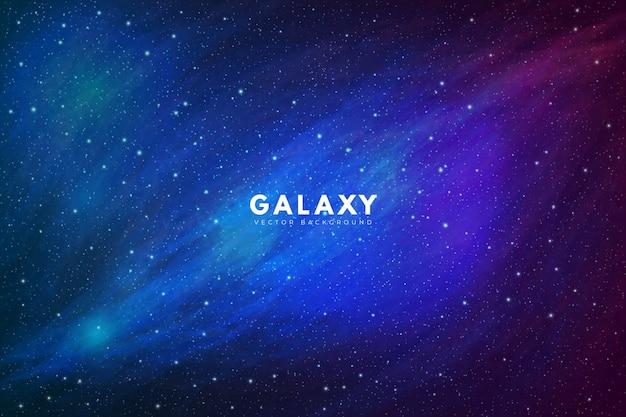 Beautiful galaxy background full of stars Free Vector