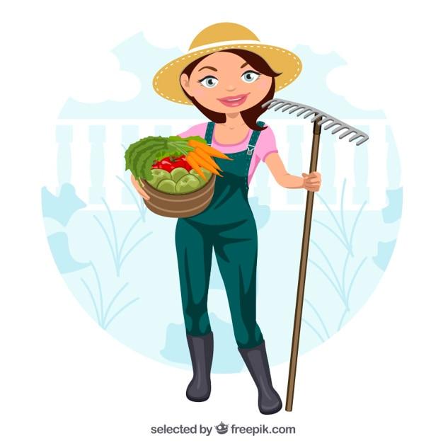 美しい庭師 無料ベクター