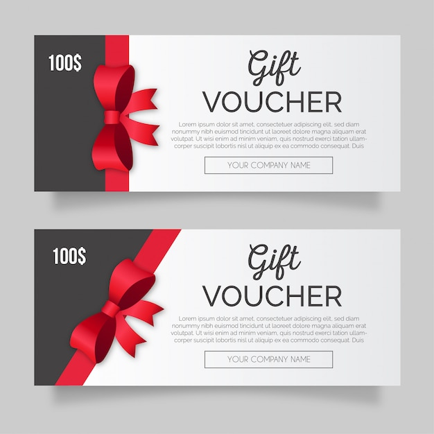 Beautiful gift voucher template Free Vector