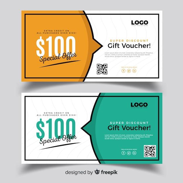 Beautiful gift voucher Free Vector